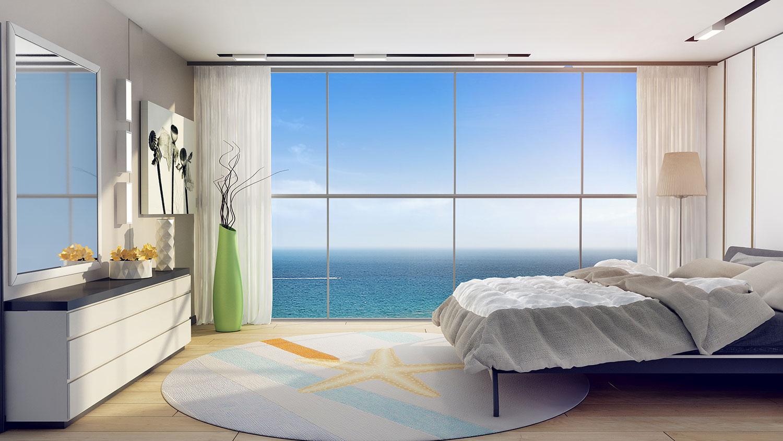 הדמיה של חדר שינה sea tower 1